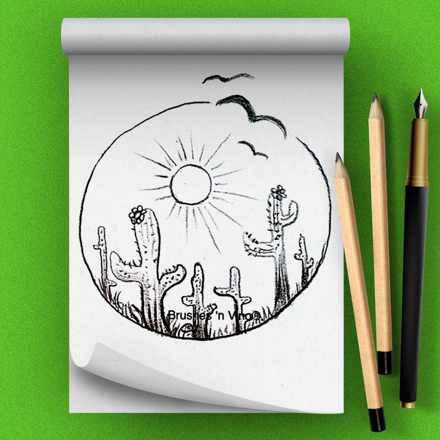 Cactus Drawing Class