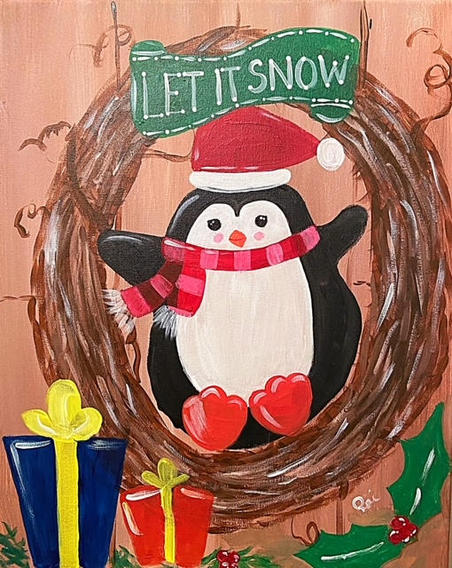 Penguin Wreath