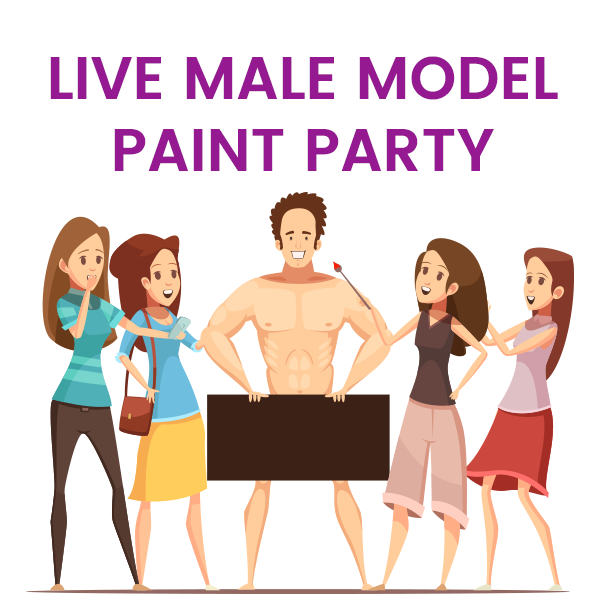 Live Male Model Painting Party
